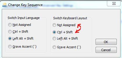 change keyboard settings