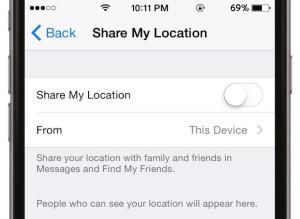 iOS 8 Share my Location