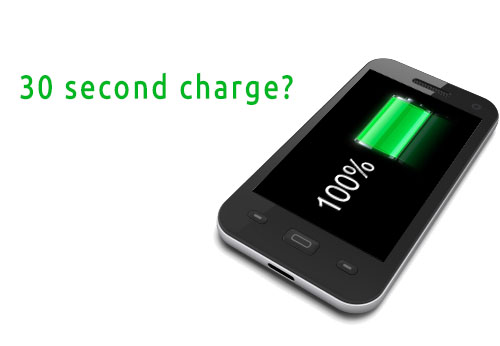 Charge phone in 30 seconds